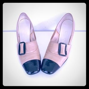 60s Heels Shoes Two Tone 8 by Red Cross Shoes